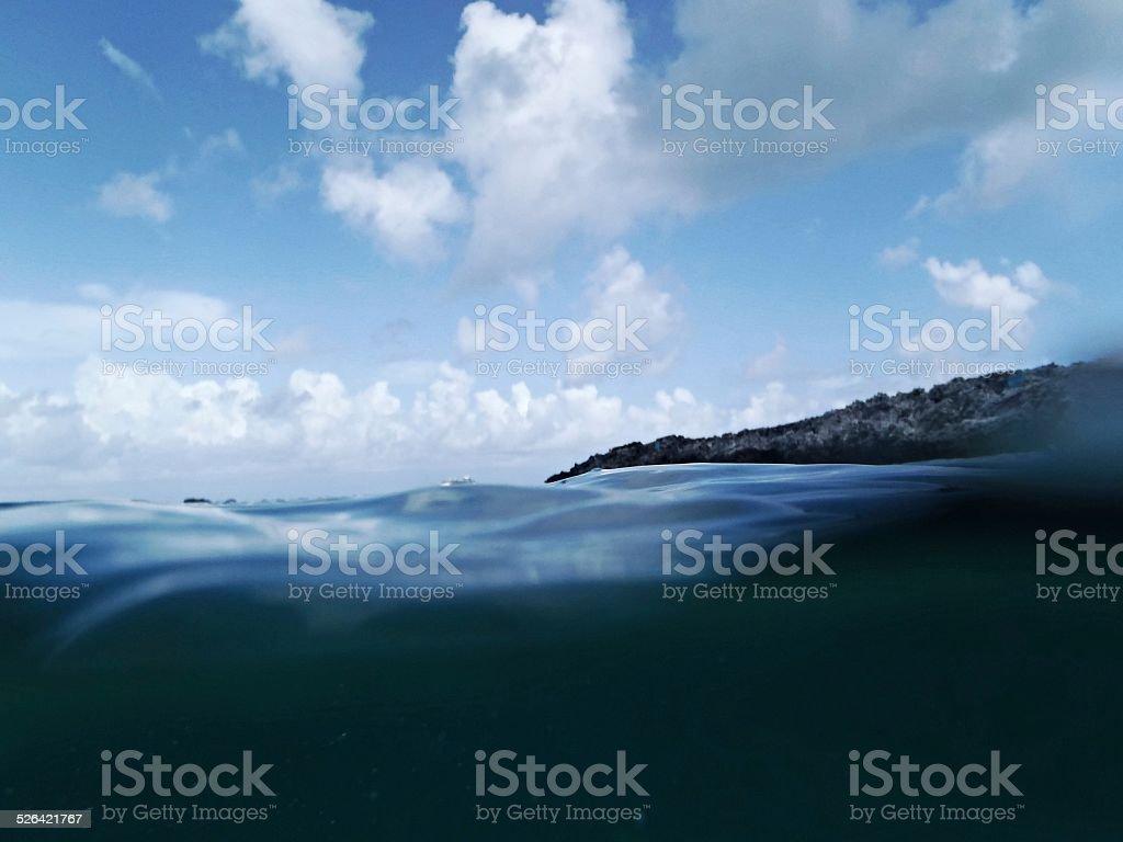 Blick vom Wasser-Etage Lizenzfreies stock-foto