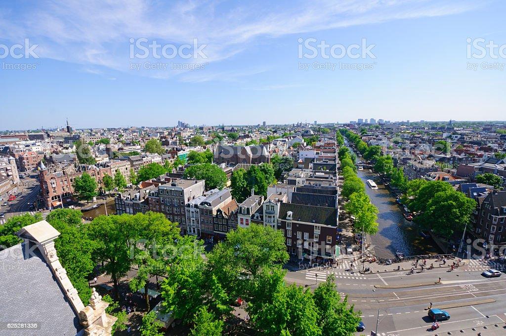 View from Westerkerk, Amsterdam, Netherlands stock photo