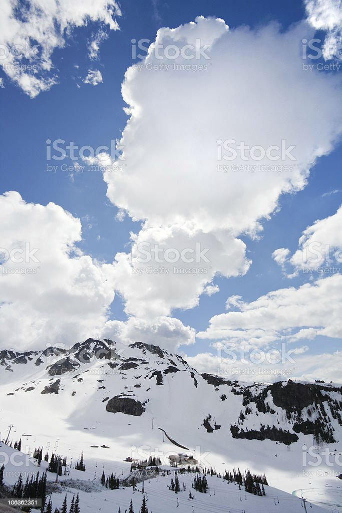 View from Whistler Peak vertical royalty-free stock photo