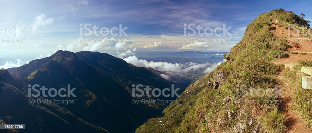 View from World's End National Park in Sri Lanka stock photo