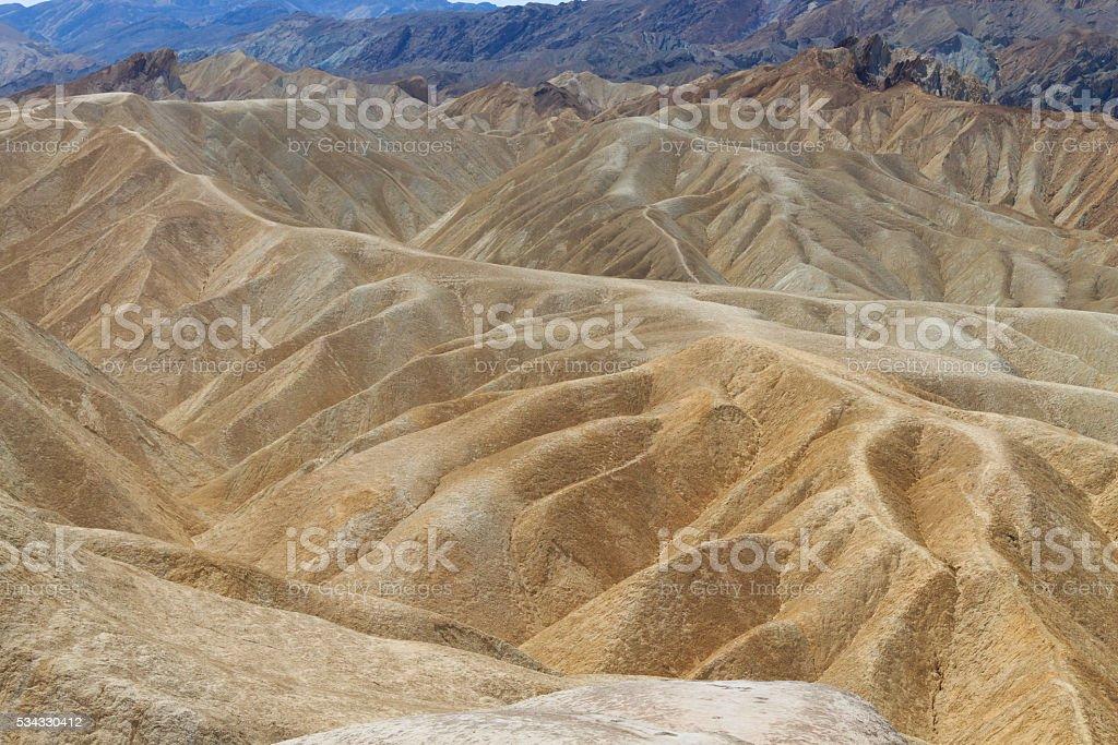View from Zabriskie Point, California, USA. stock photo