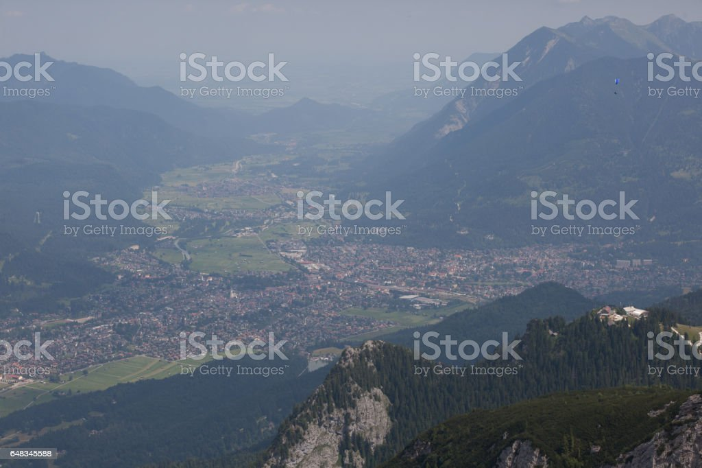 View from Zugspitze stock photo