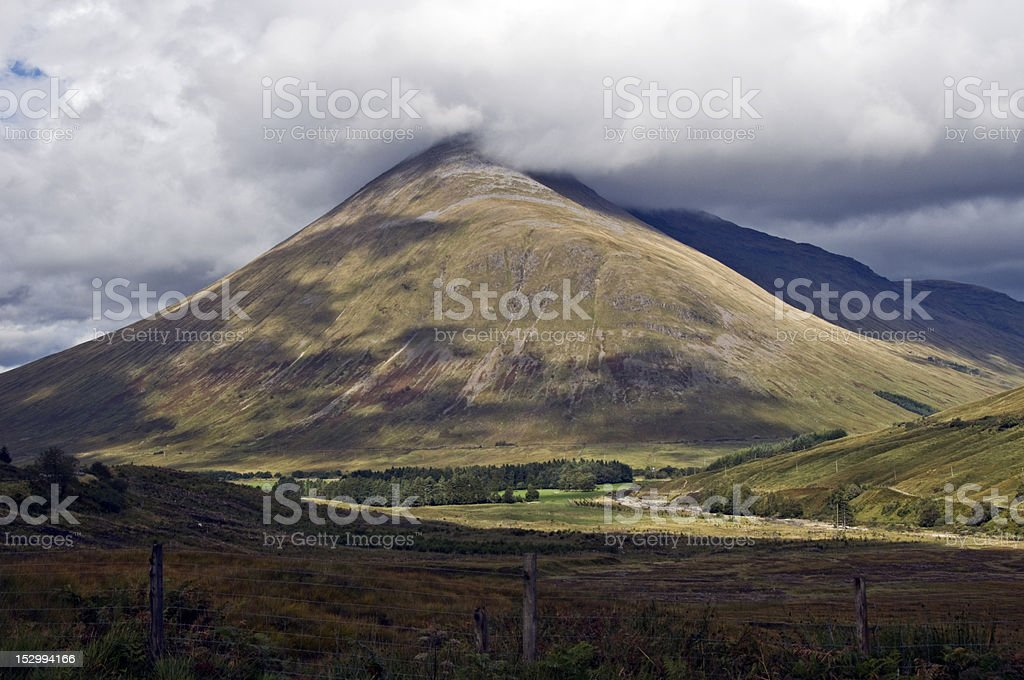 View going to the highlands of Scotland royalty-free stock photo