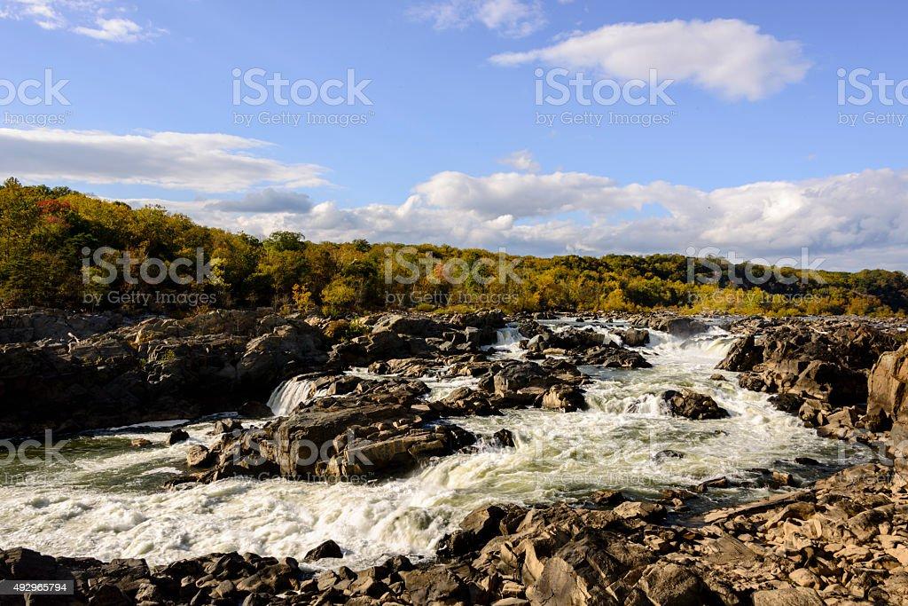 XXXL: View Great Falls on the Potomac river stock photo
