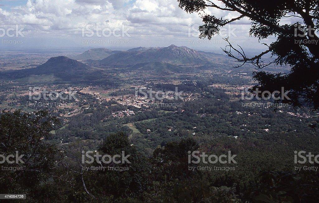 View Great Rift Valley Malawi city Zomba1990s stock photo