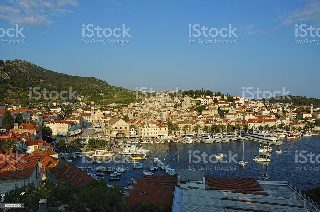 View Hvar, Croatia royalty-free stock photo