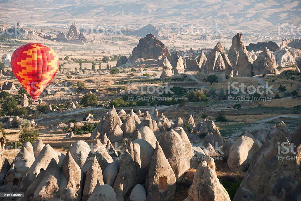 View in Cappadocia, Turkey. stock photo