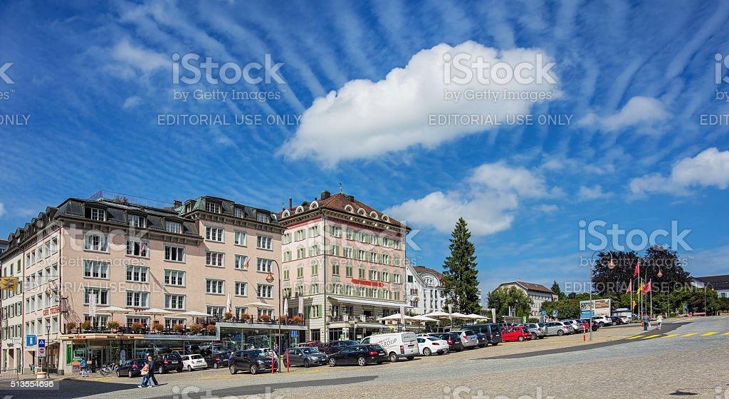 View in Einsiedeln stock photo