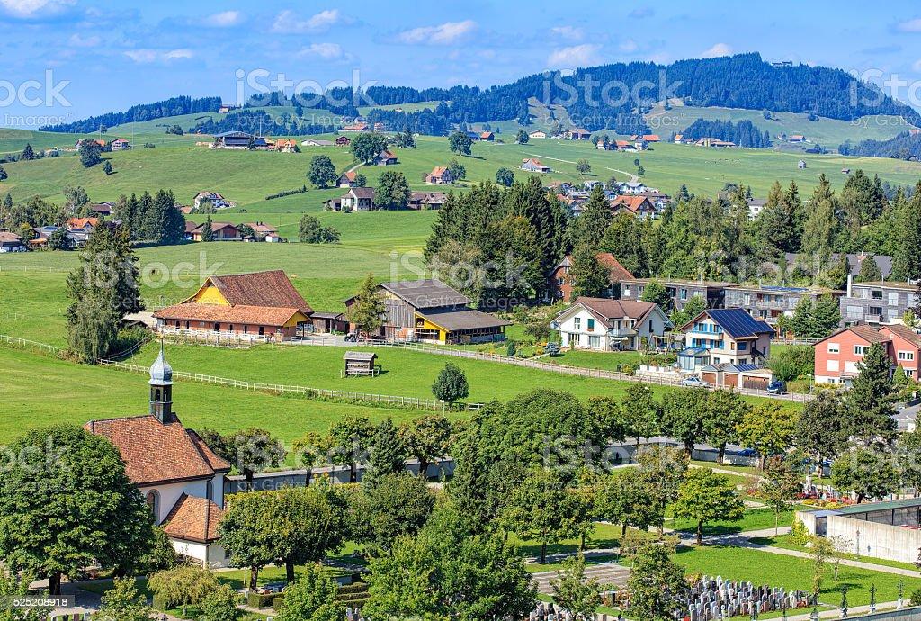 View in Einsiedeln, Switzerland stock photo