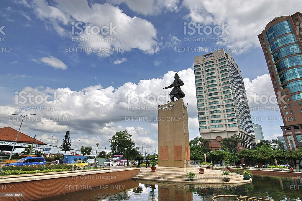 View in Ho Chi Minh City royalty-free stock photo