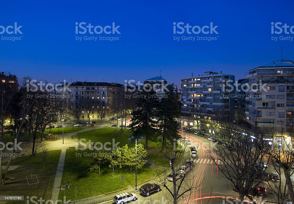 View in Milan stock photo