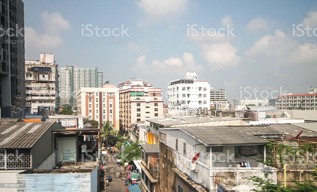view in the bts stock photo