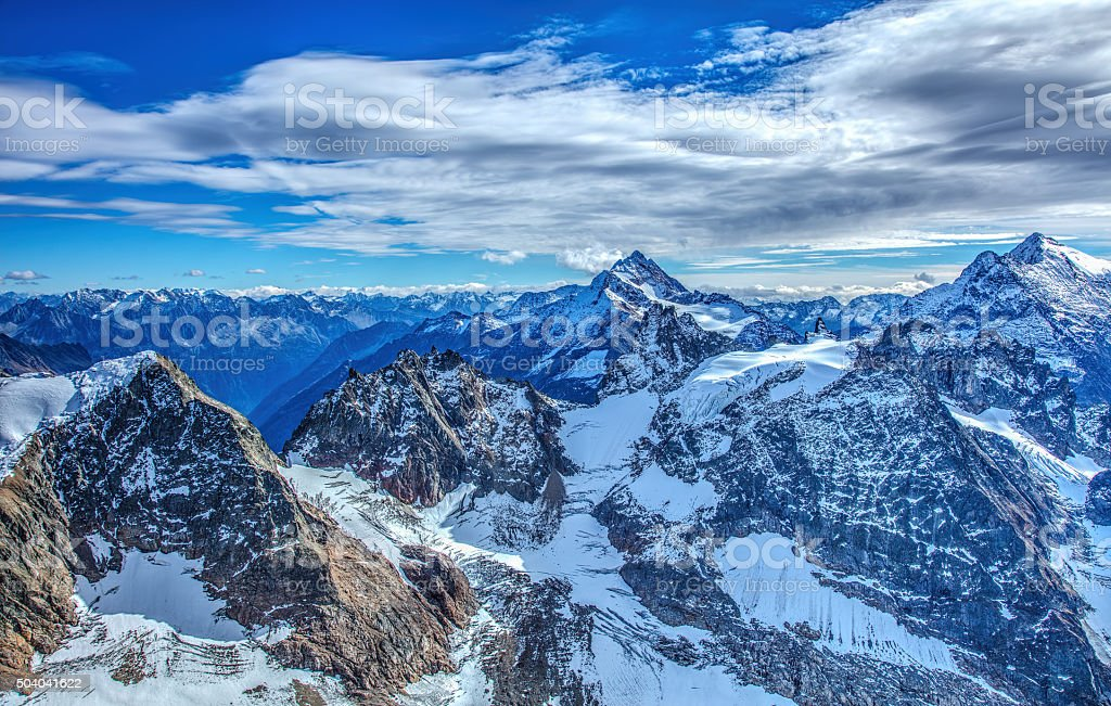 View in the Swiss Alps, HDR stock photo