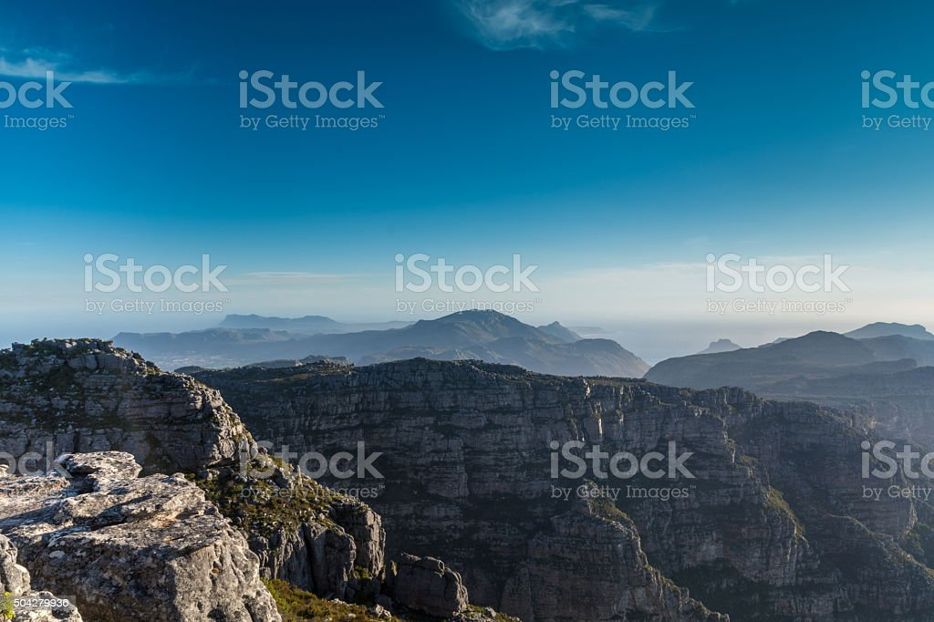 View in to the far from the Table mountain-Cape Town stock photo