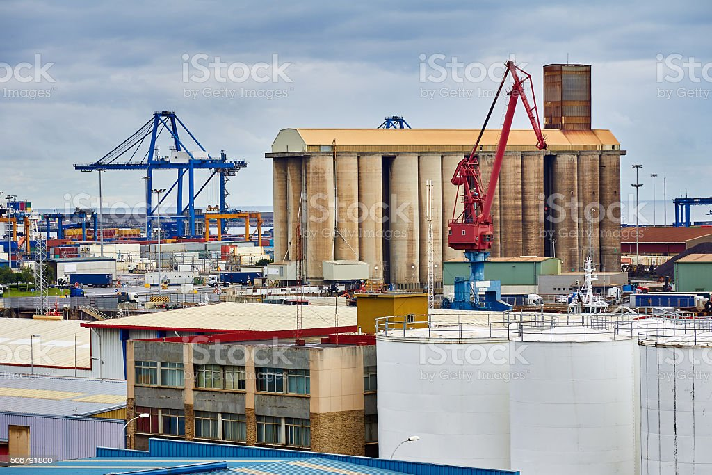View industrial zone stock photo