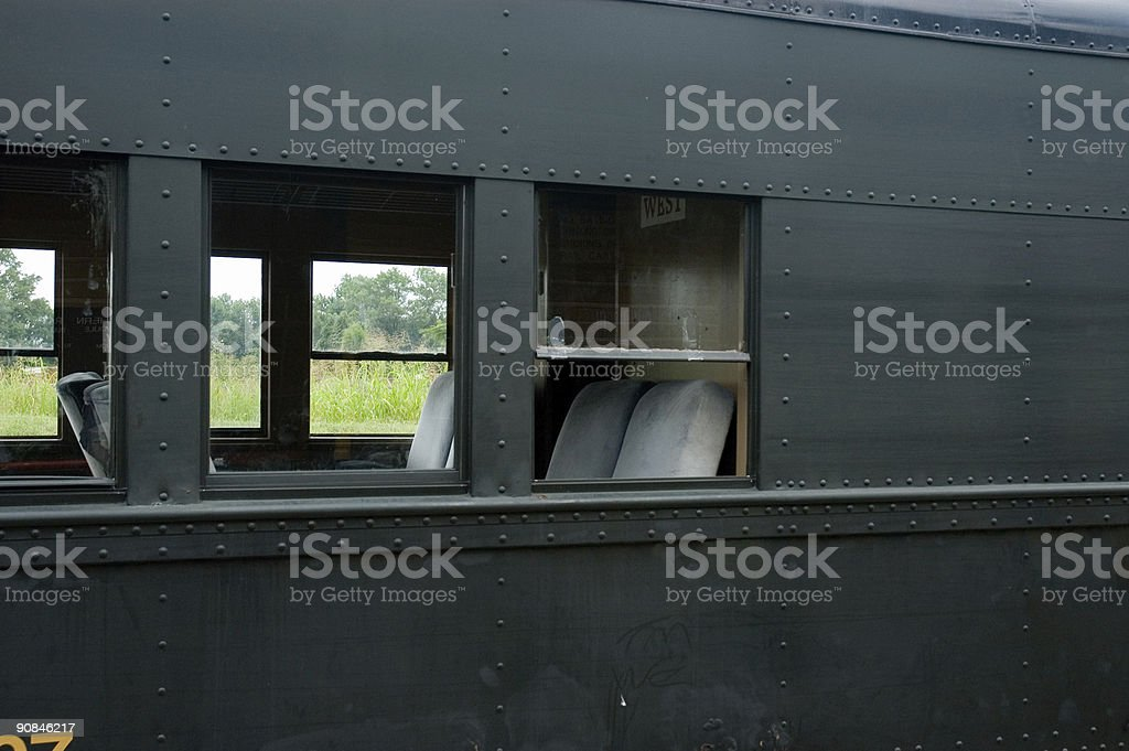 View inside a passenger train royalty-free stock photo
