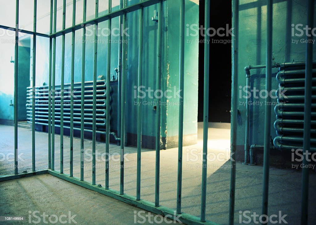 View Inside a Prison Cell royalty-free stock photo