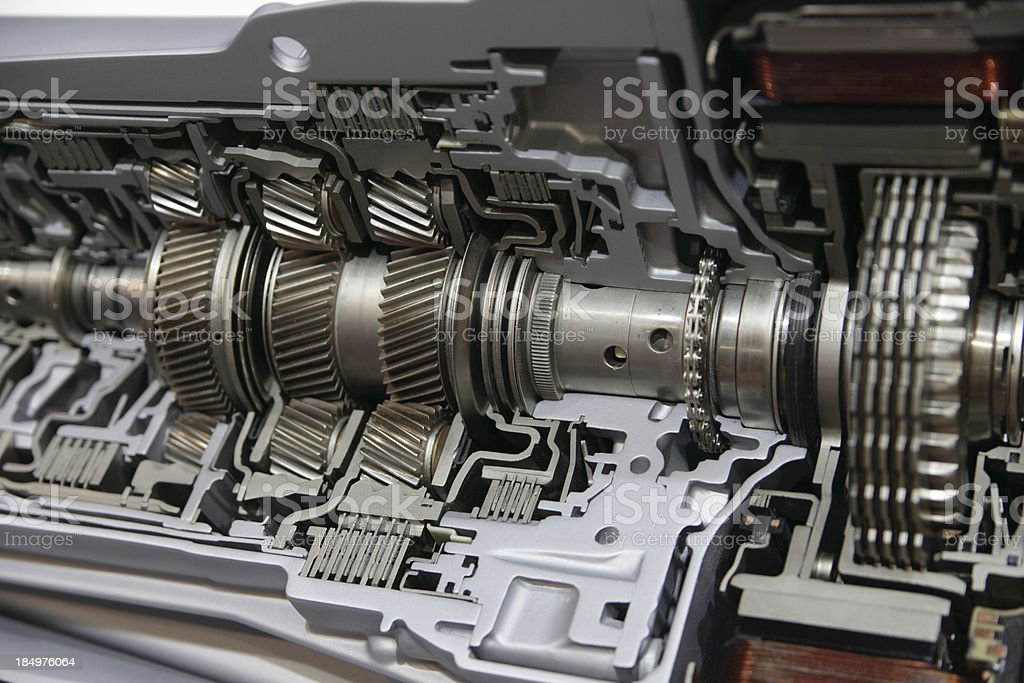 View inside car gearbox royalty-free stock photo