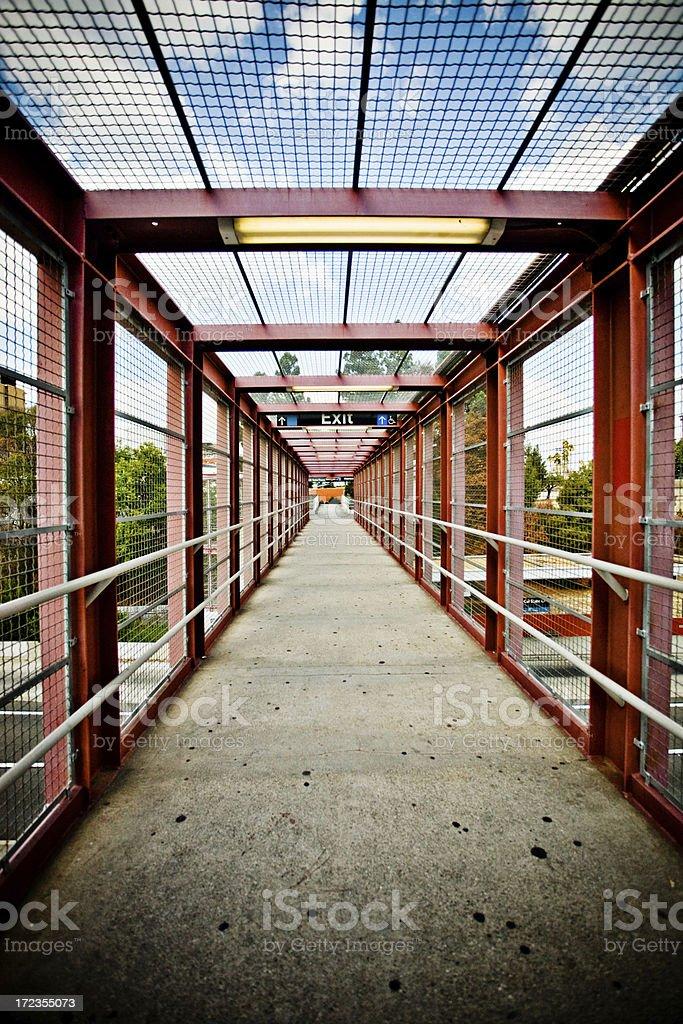 view inside the bridge royalty-free stock photo