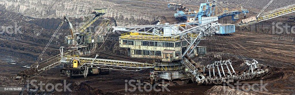 View into a Coal Mine stock photo