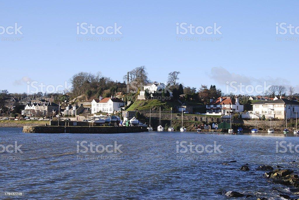 View into Aberdour Harbour royalty-free stock photo