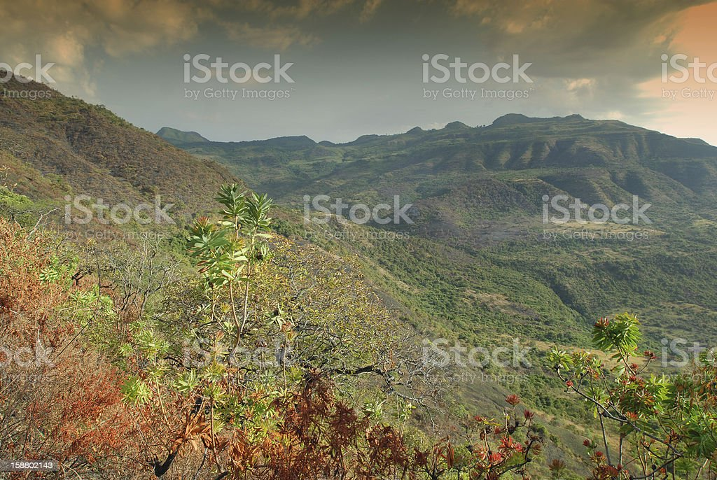 View into the African Rift Valley, Southern Ethiopia royalty-free stock photo