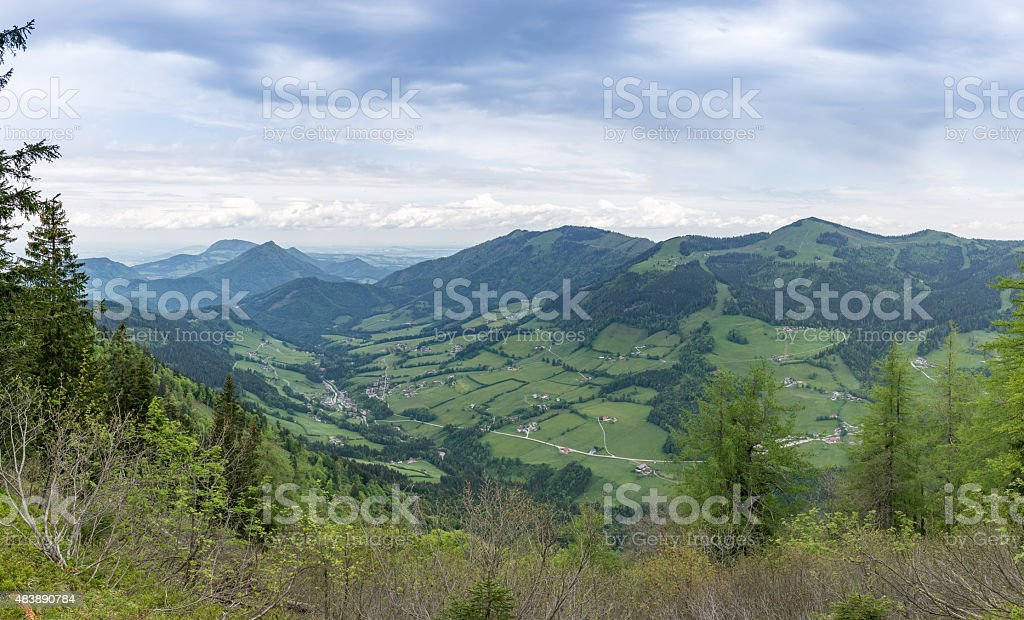 Blick in die Gaissau stock photo