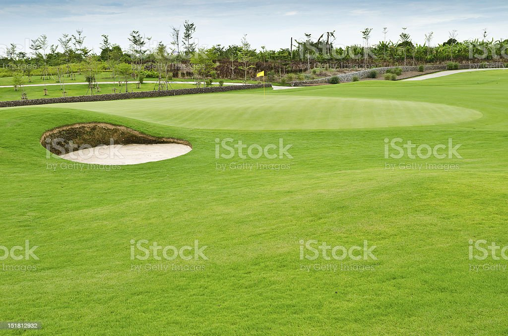 view landscape of golf course royalty-free stock photo