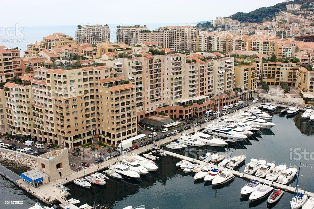 View Monaco neighborhoods. The beautiful Mediterranean Coast. Cote d'Azur stock photo