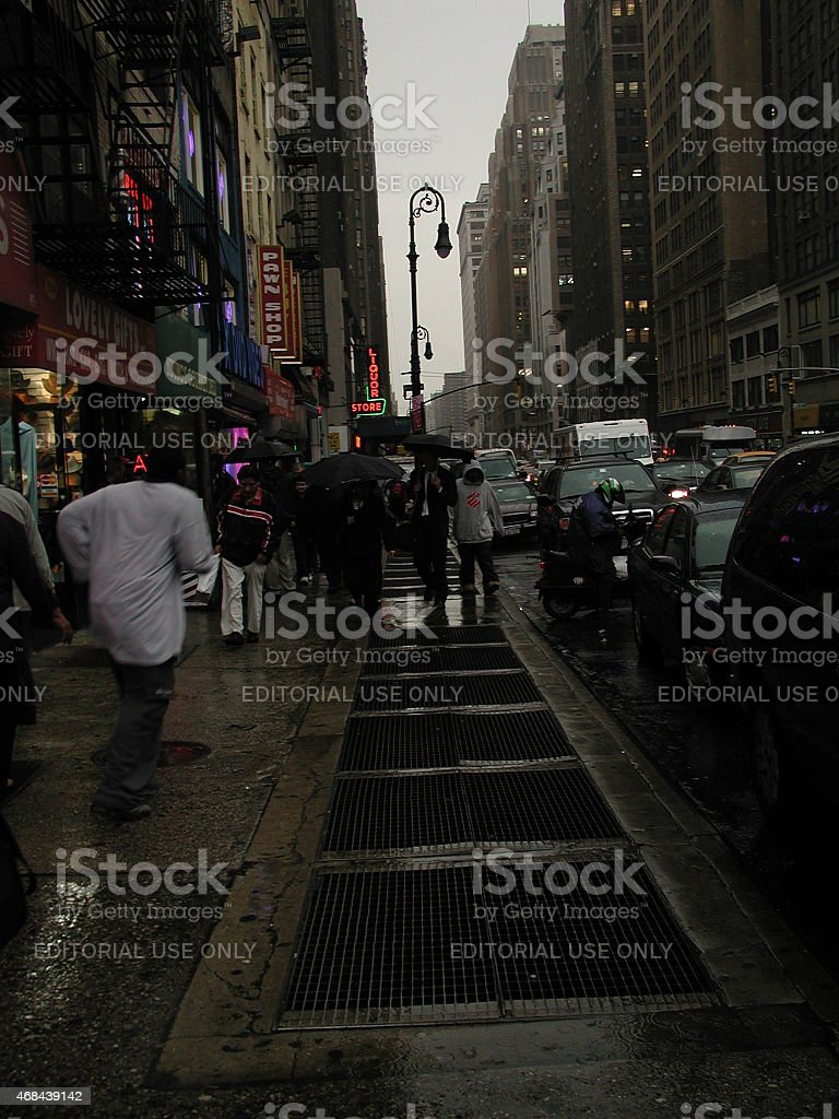 View of 8th Ave and 41st street NYC stock photo