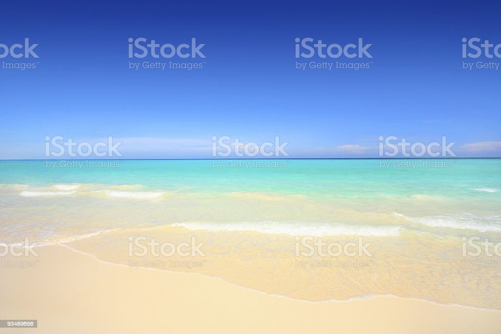 A view of a beautiful tropical beach stock photo