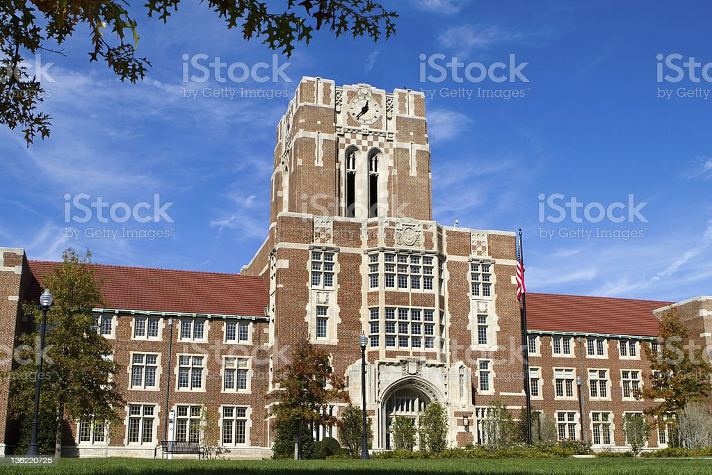 A view of a building at the University of Tennessee stock photo