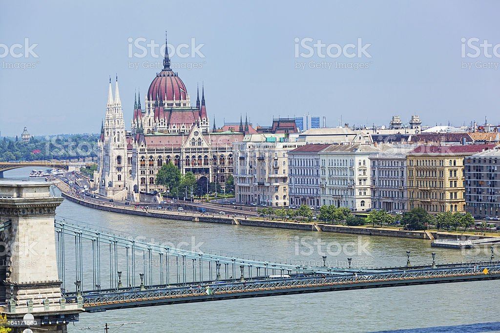 View of a building  Hungarian parliament royalty-free stock photo