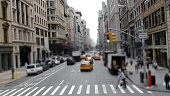 View Of A Busy Street In Manhattan New York City.USA