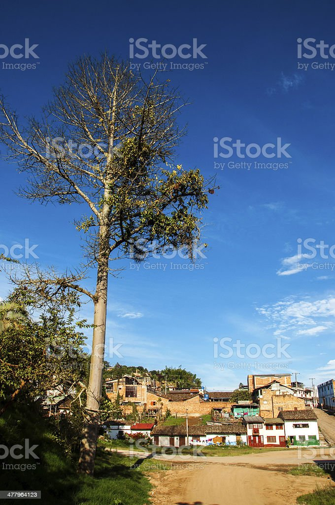View of a Colombian Town stock photo
