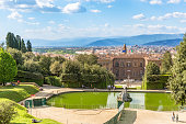 View of a garden in Florence