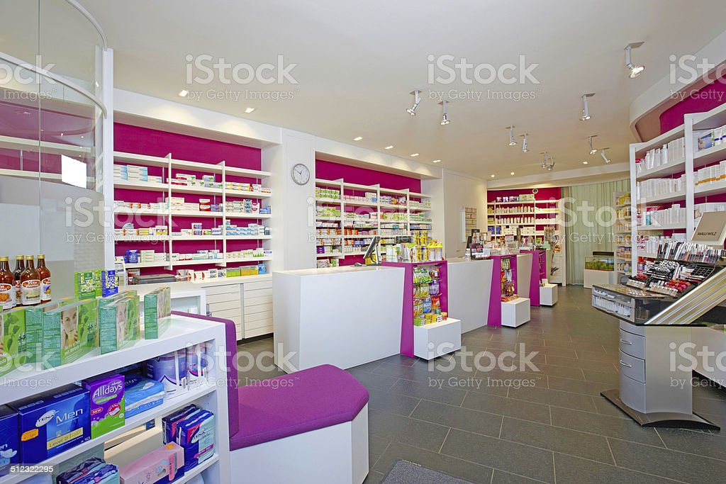 View of a german pharmacy stock photo