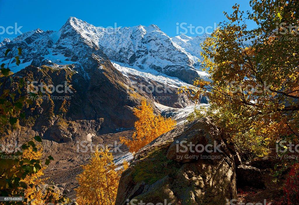 View of a glacier Alibek stock photo