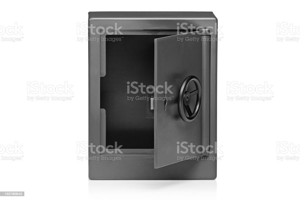 View of a grey empty deposit box royalty-free stock photo