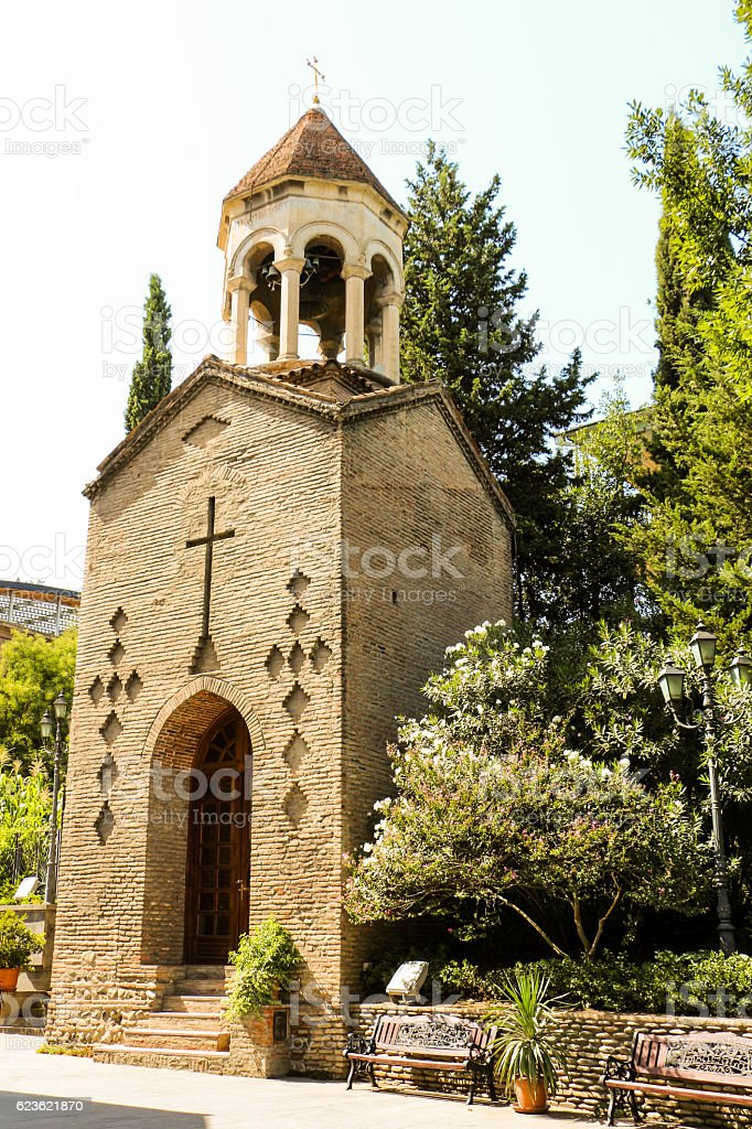 View of a historical  church in Tbilisi stock photo
