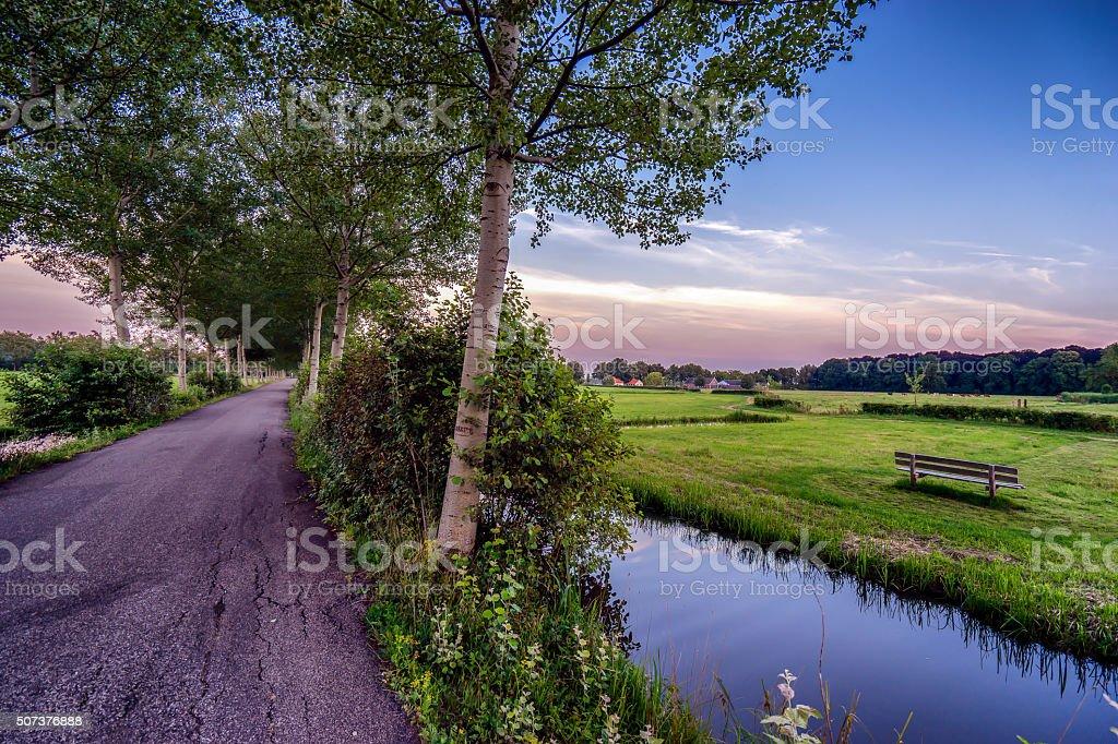View of a landscape near Utrecht stock photo
