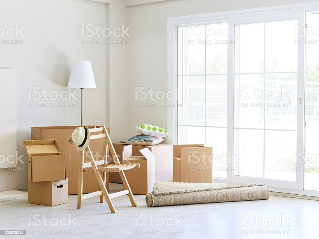 View of a living room stock photo
