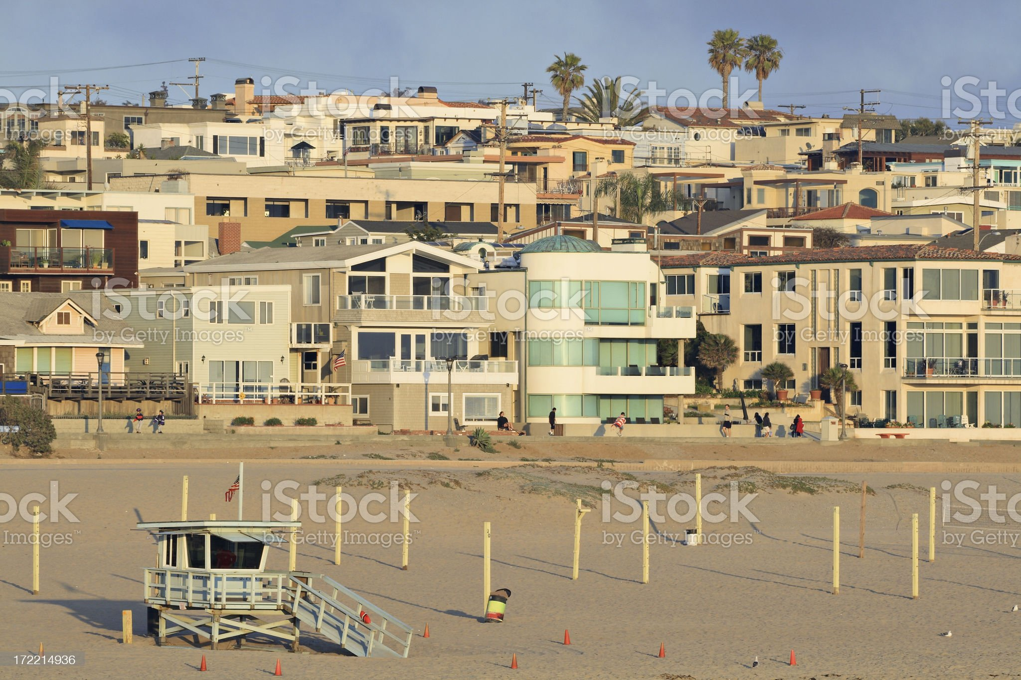 A view of a local community near the beach royalty-free stock photo