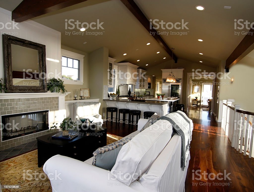 View of a luxurious living room interior  royalty-free stock photo