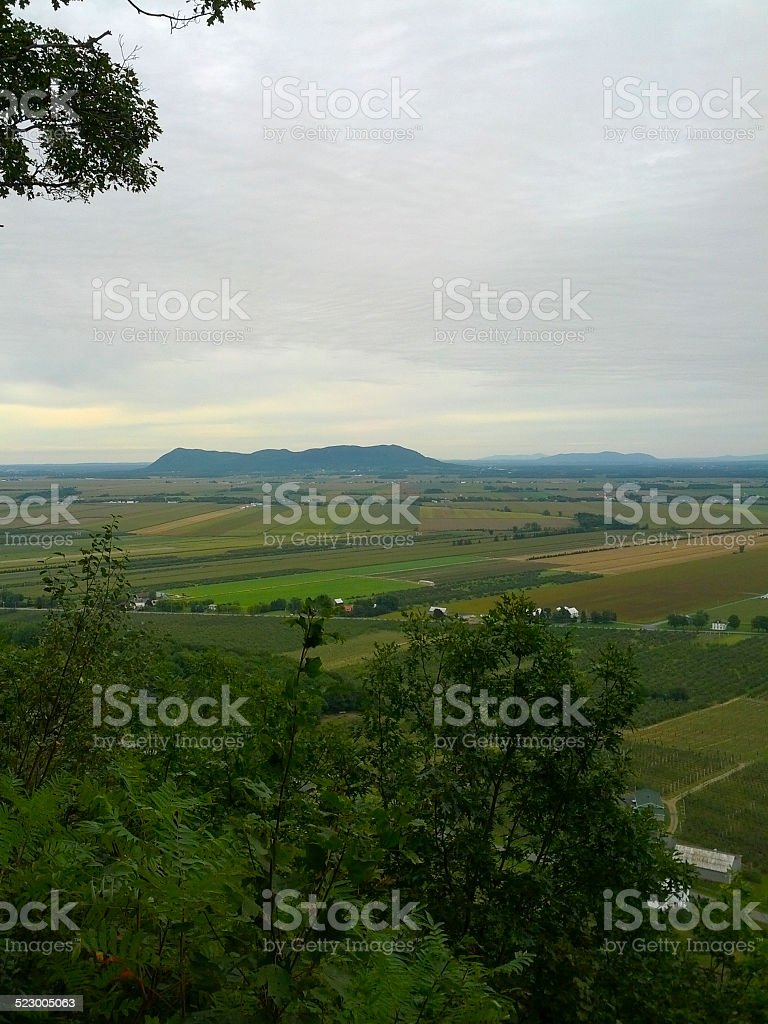 View of a Mountain from far away stock photo