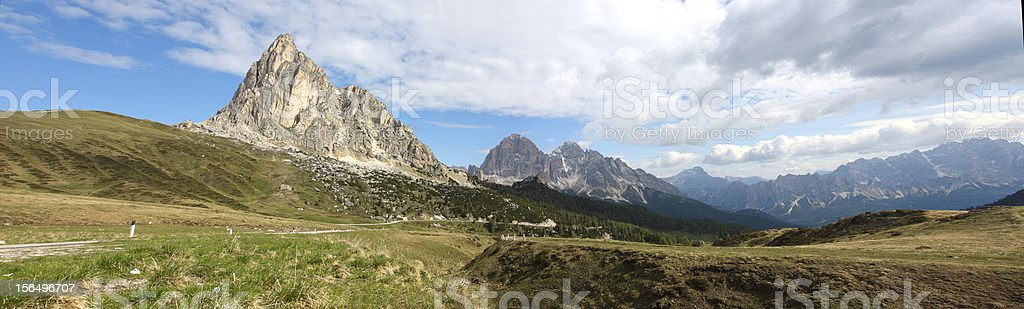 view of a  mountains range royalty-free stock photo