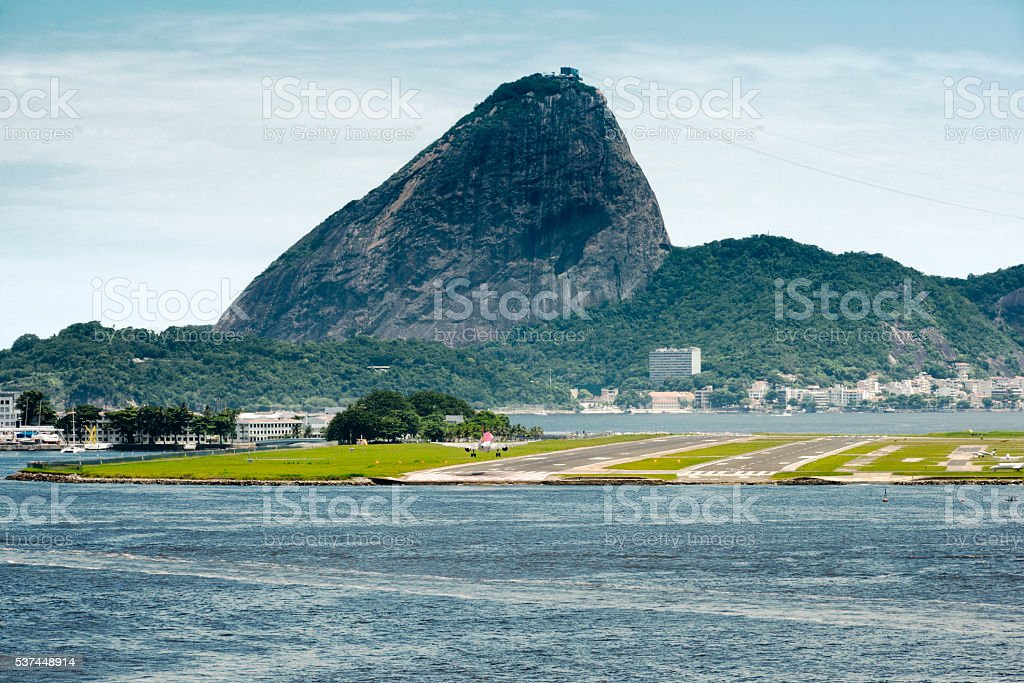 View Of A Passenger Airplane Landing stock photo