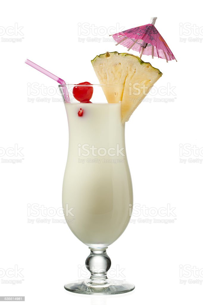 view of a pineapple milkshake stock photo