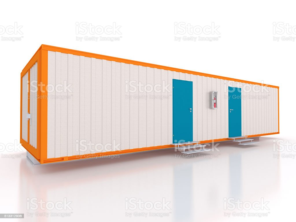 3D view of a portable container exterior stock photo
