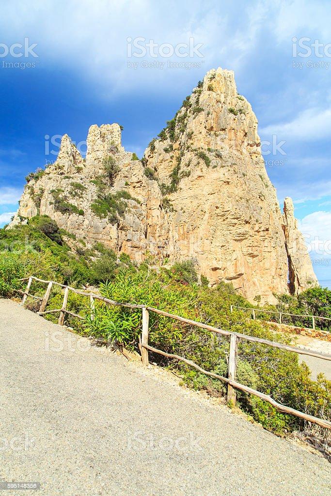 View of a rocks in Cala Luna stock photo
